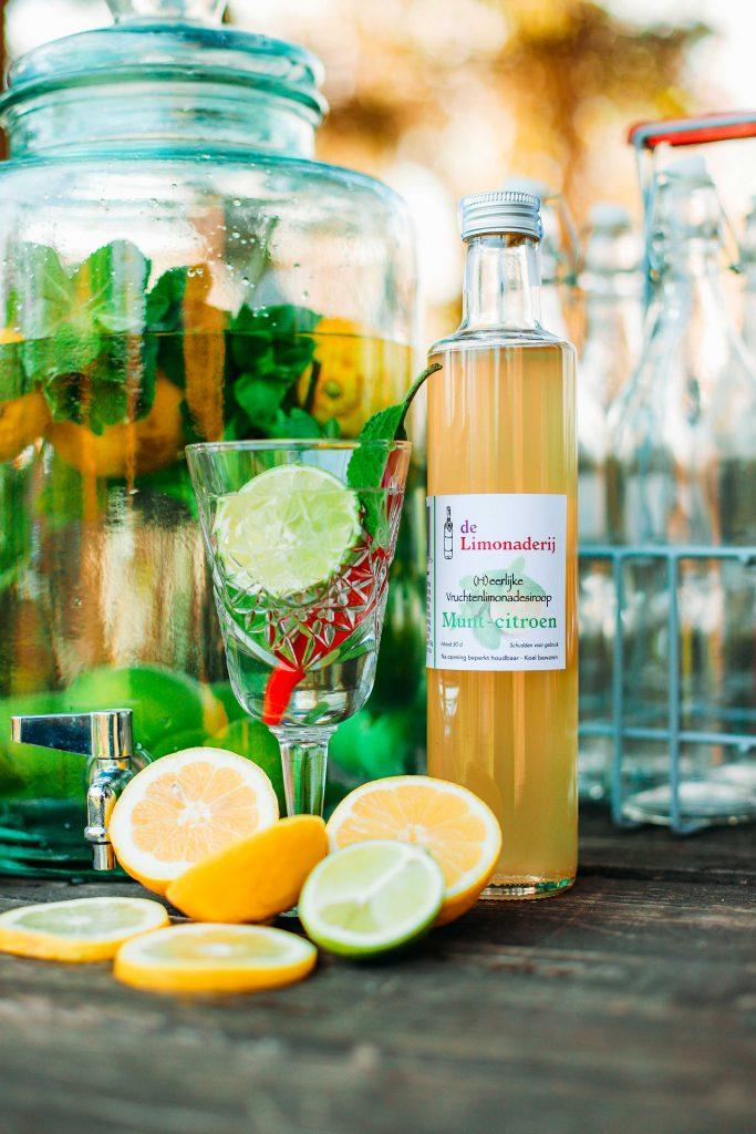Limonadesiroop munt citroen